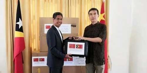【转载】中国驻东帝汶使馆向东帝汶政府捐赠防疫物资